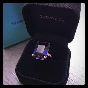 Tiffany & Co Amythist Sparkler Ring Size 8